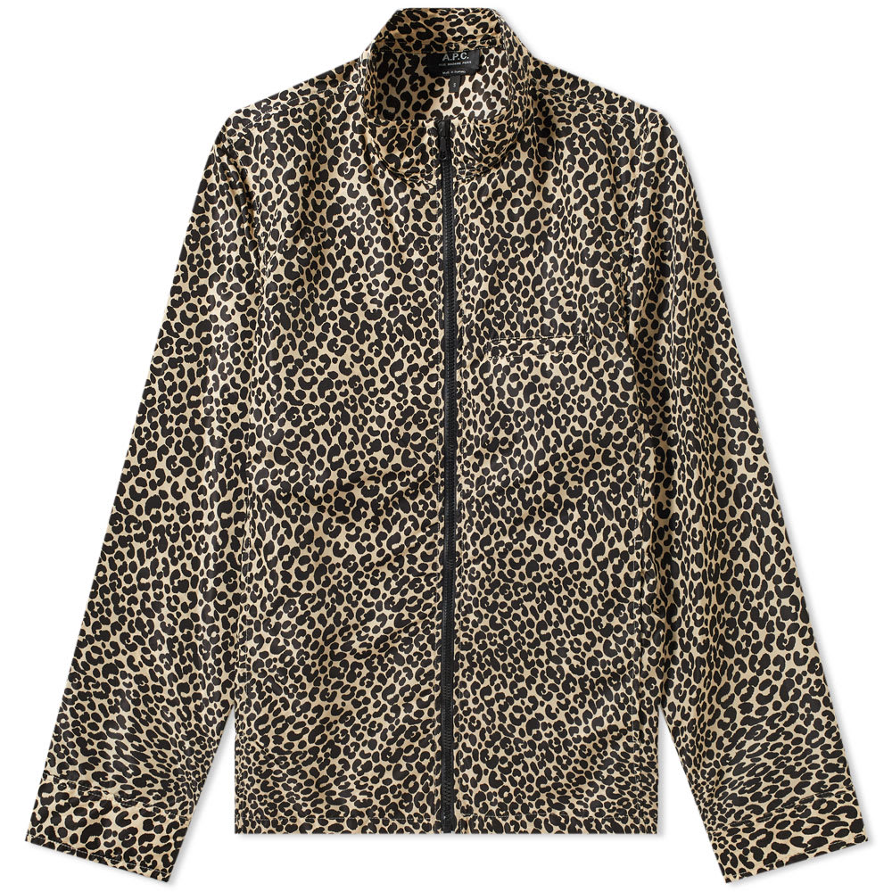 A.P.C. Leopard Print Mud Windbreaker by A.P.C.