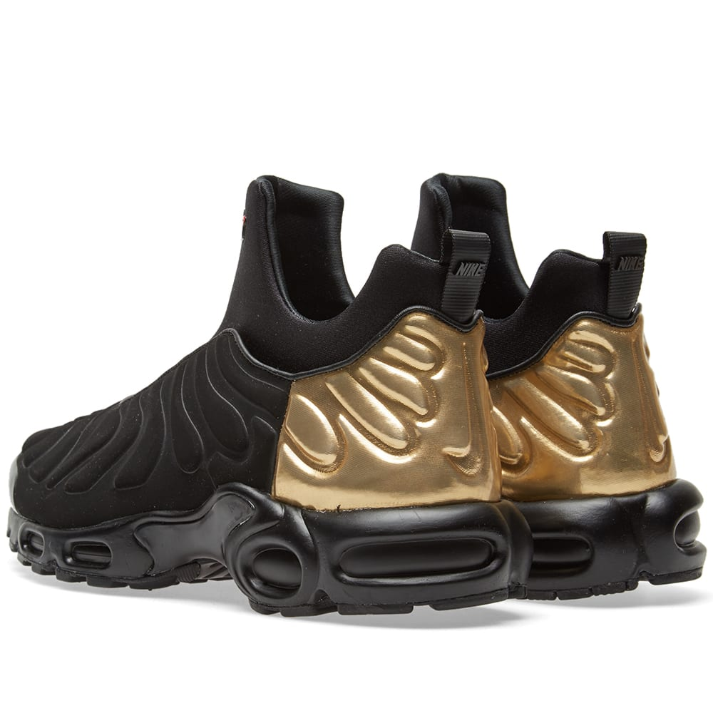 e65c64ea71 Nike W Air Max Plus Slip SP Black & Metallic Gold | END.
