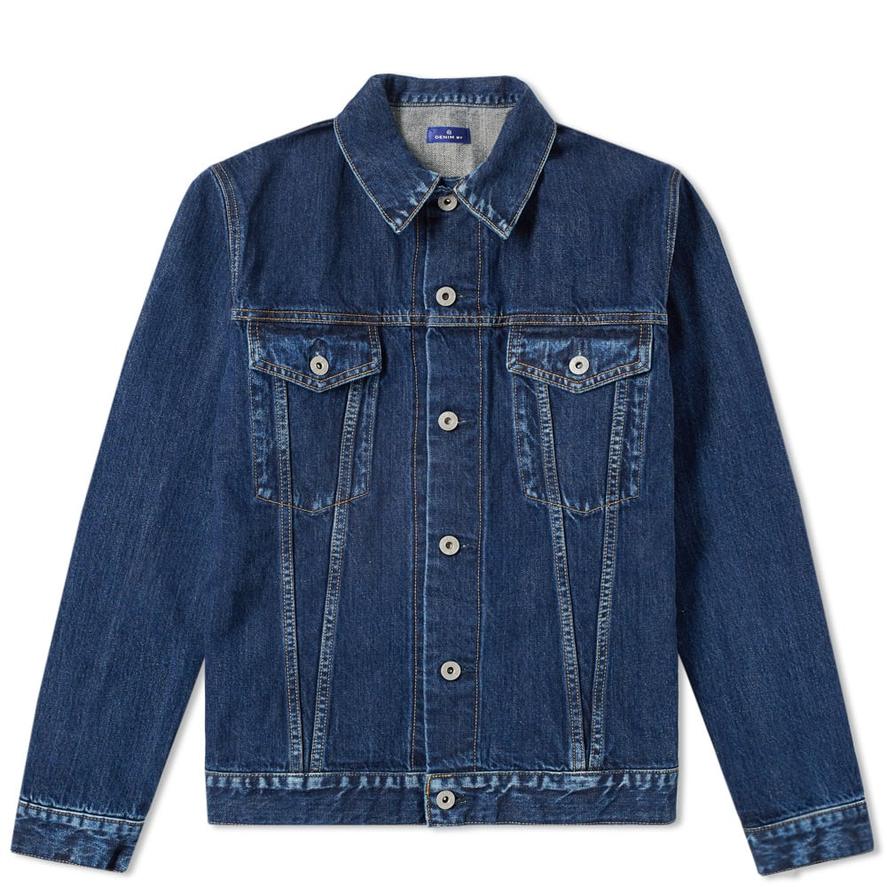 VANQUISH Denim By Vanquish & Fragment Inside Print Denim Jacket in Blue