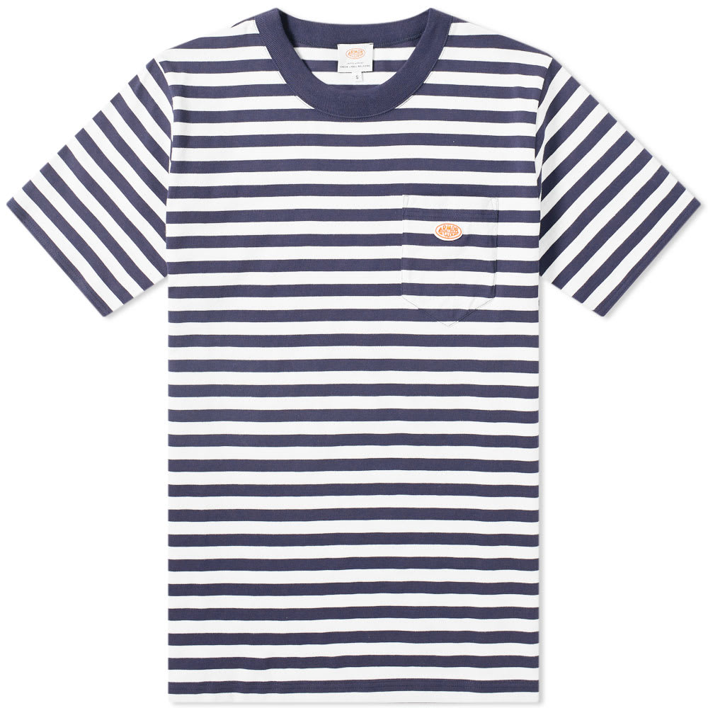 637f1d94f Armor-Lux x United Arrows Stripe Pocket Tee White   Navy