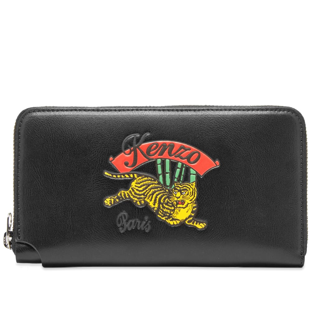 94b3949d563 Kenzo Jumping Tiger Leather Continental Wallet Black | END.