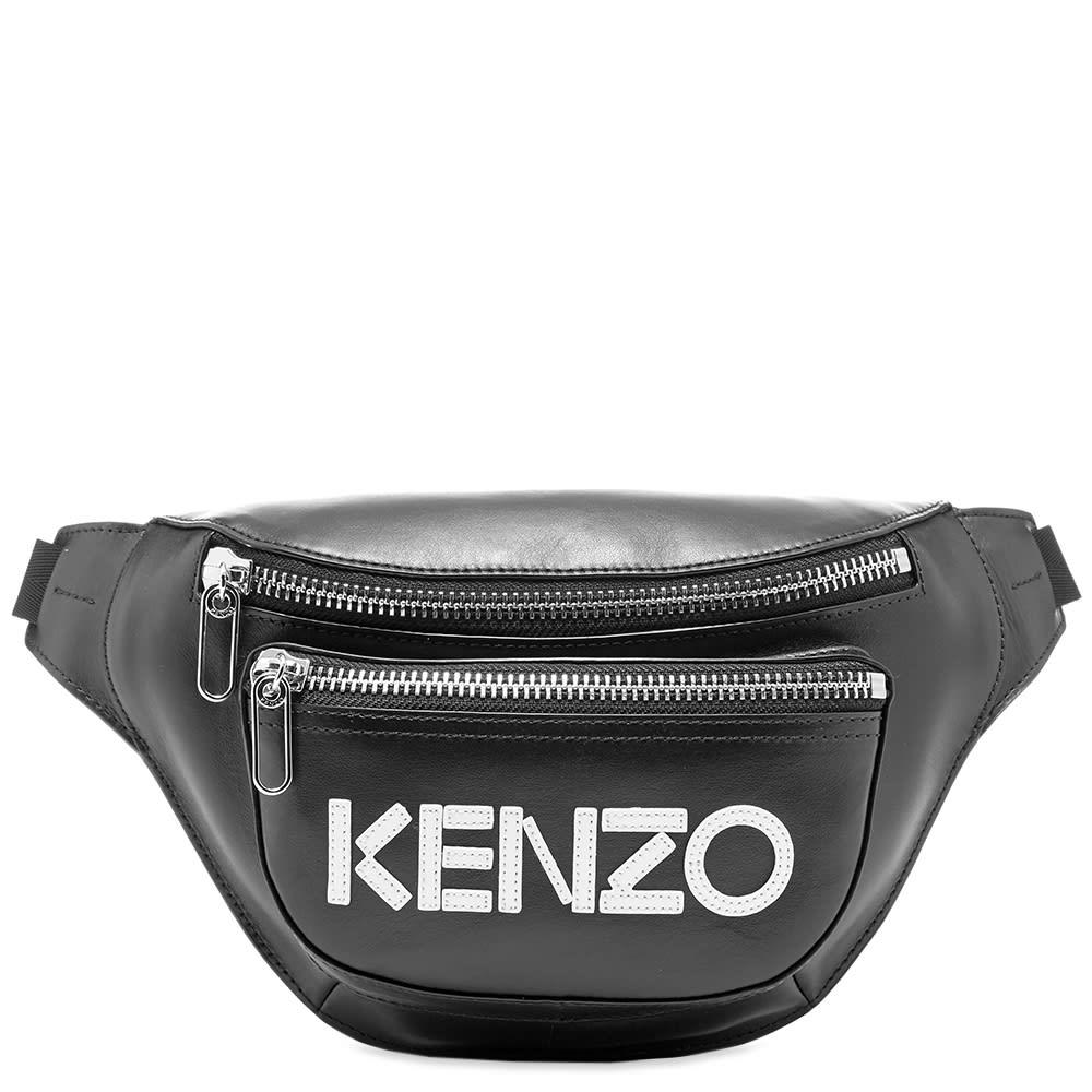 8706eff0 Kenzo Leather Logo Waist Bag