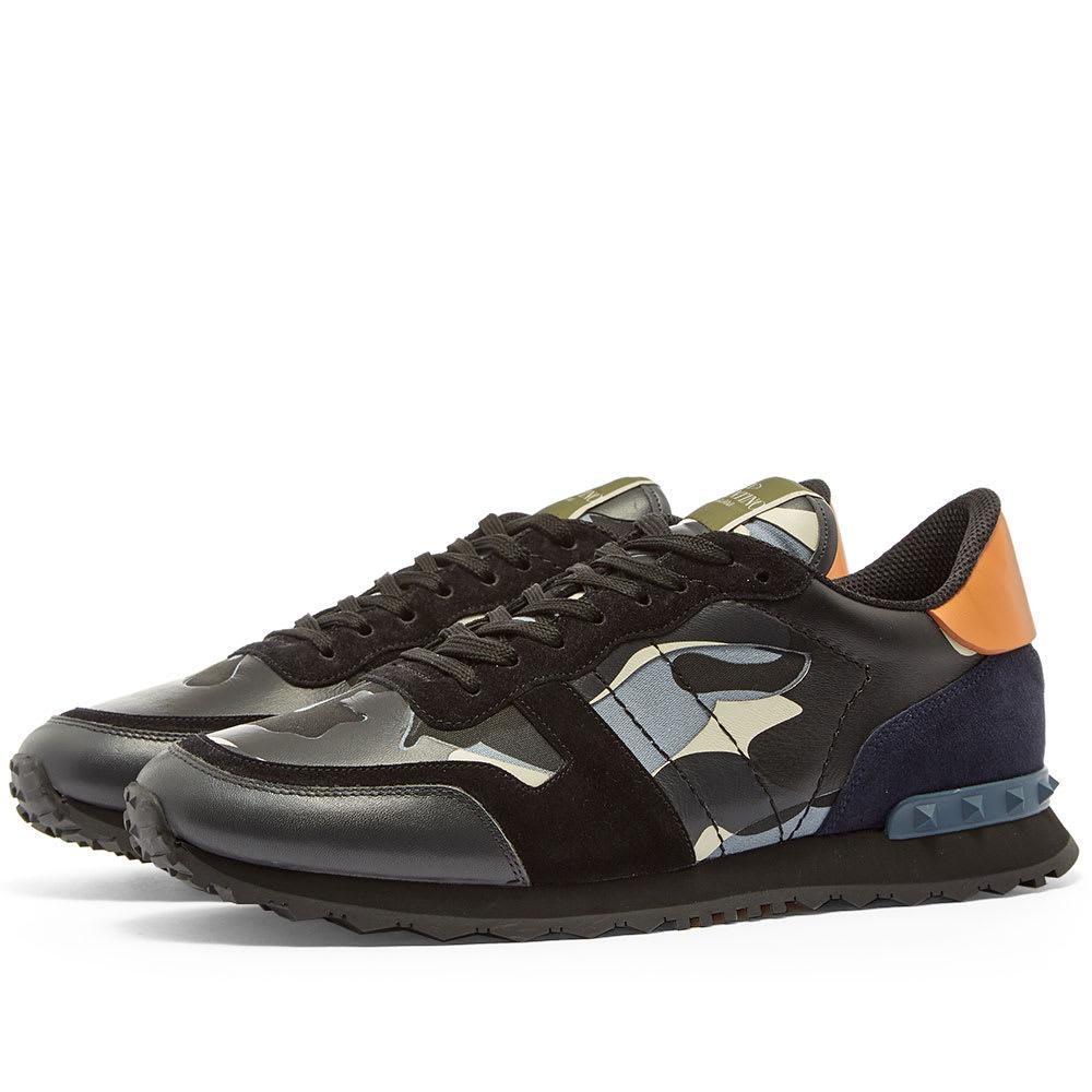 0021be8fe197c Valentino Rockrunner Camo Sneaker Black, White & Orange | END.