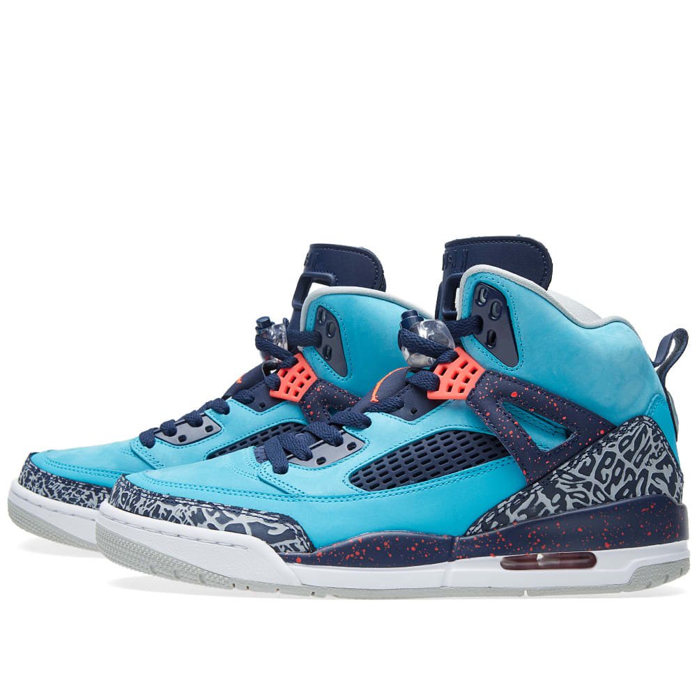 the best attitude f04a6 7837e Nike Air Jordan Spizike Turquoise Blue   Infrared 23   END.