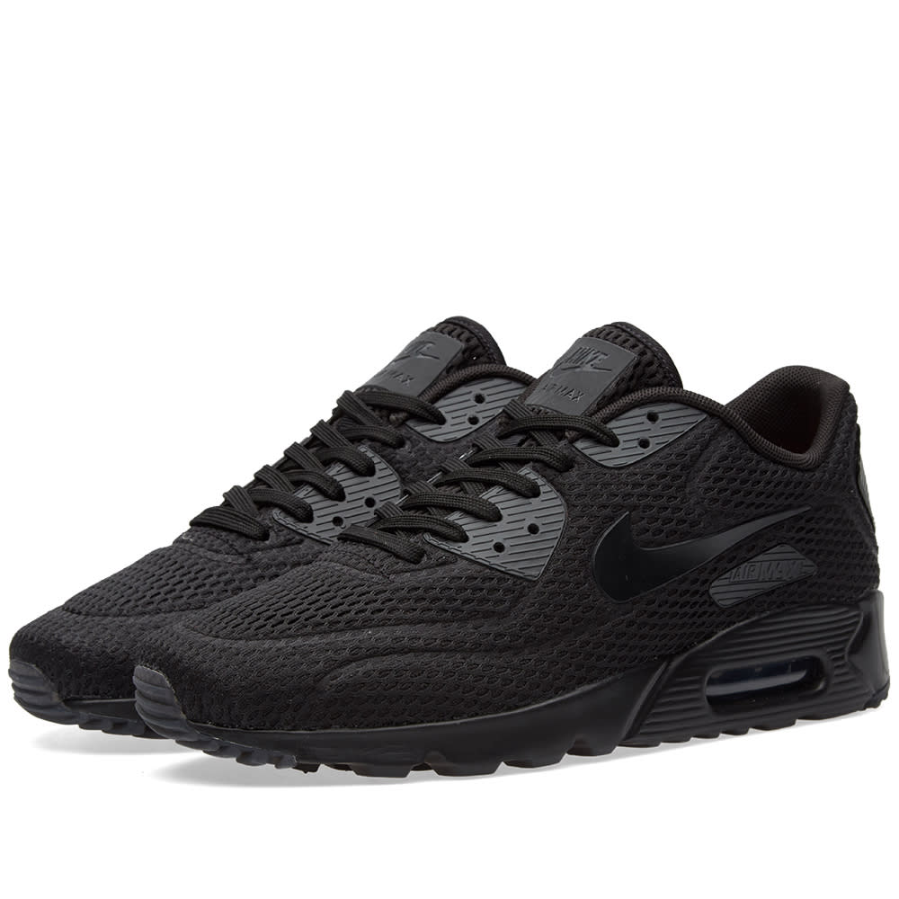 reputable site 3588a de5cd Nike Air Max 90 Ultra BR Black   Total Crimson   END.