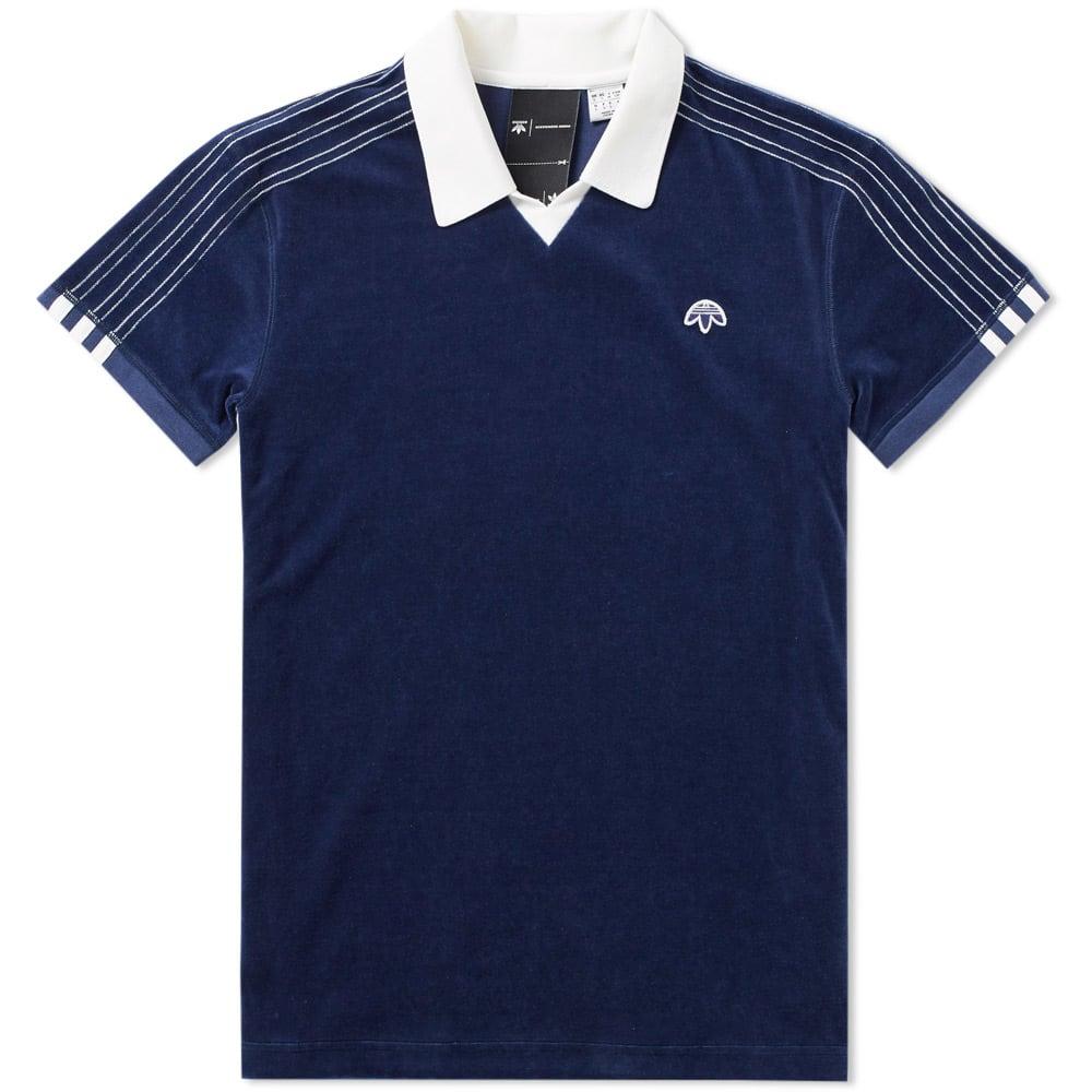 adidas Originals by Alexander Wang Adidas originals by Alexander one 17SS three stripe velour polo shirt BR6217 black XXS men