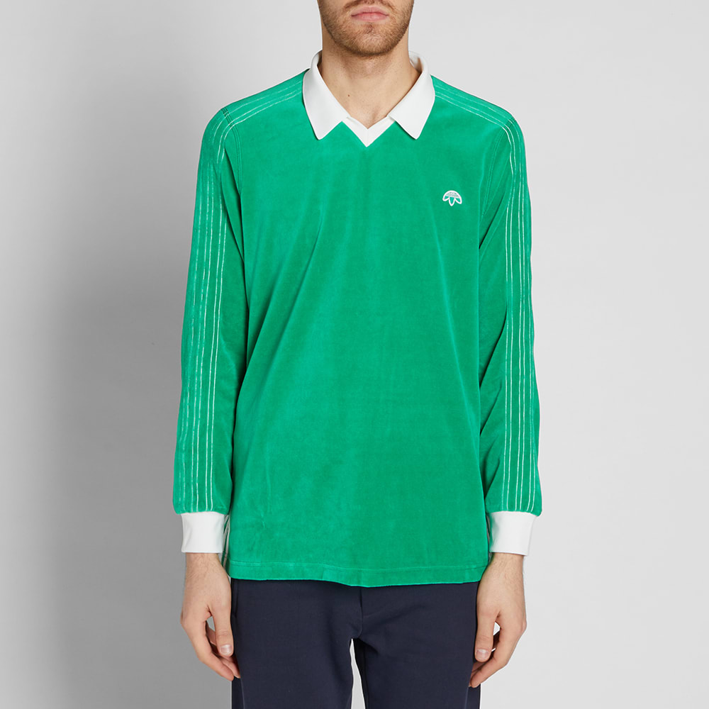 Adidas Alexander Sleeve Polo X Wang Velour Long 8nOPkX0w
