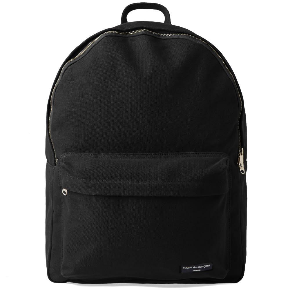 258a300a49d25d Comme des Garcons Homme Canvas Washed Backpack Black