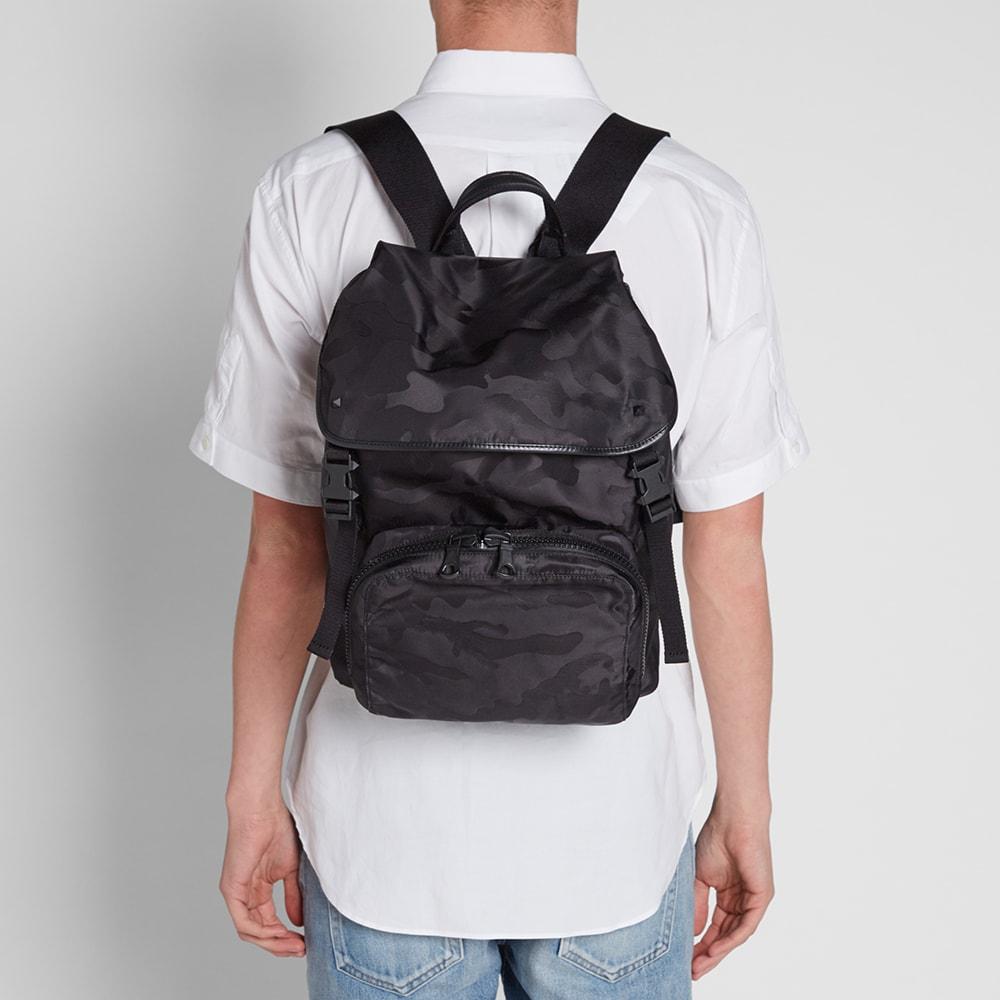 e858b8dbd1 Valentino Jacquard Camouflage Backpack Black | END.