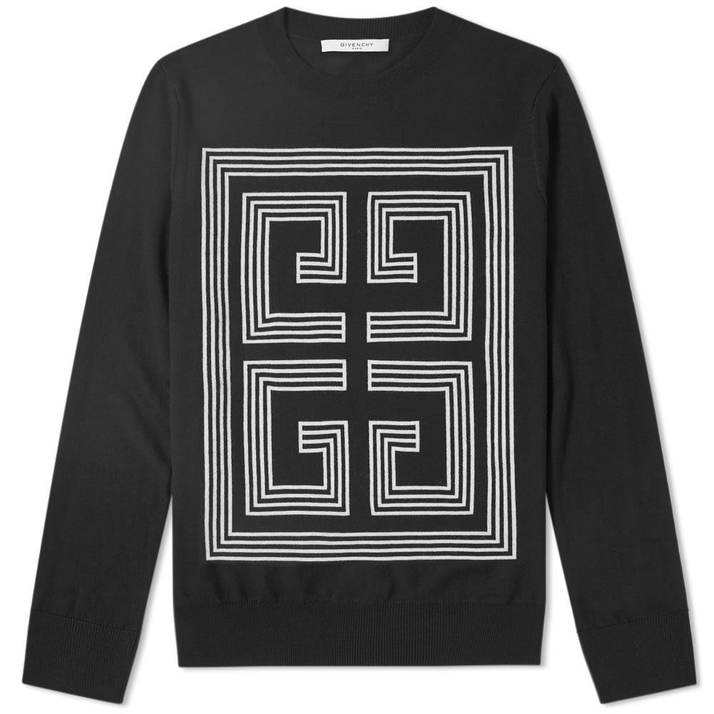 13c86f6fdbe210 Givenchy Intarsia Knit Black | END.