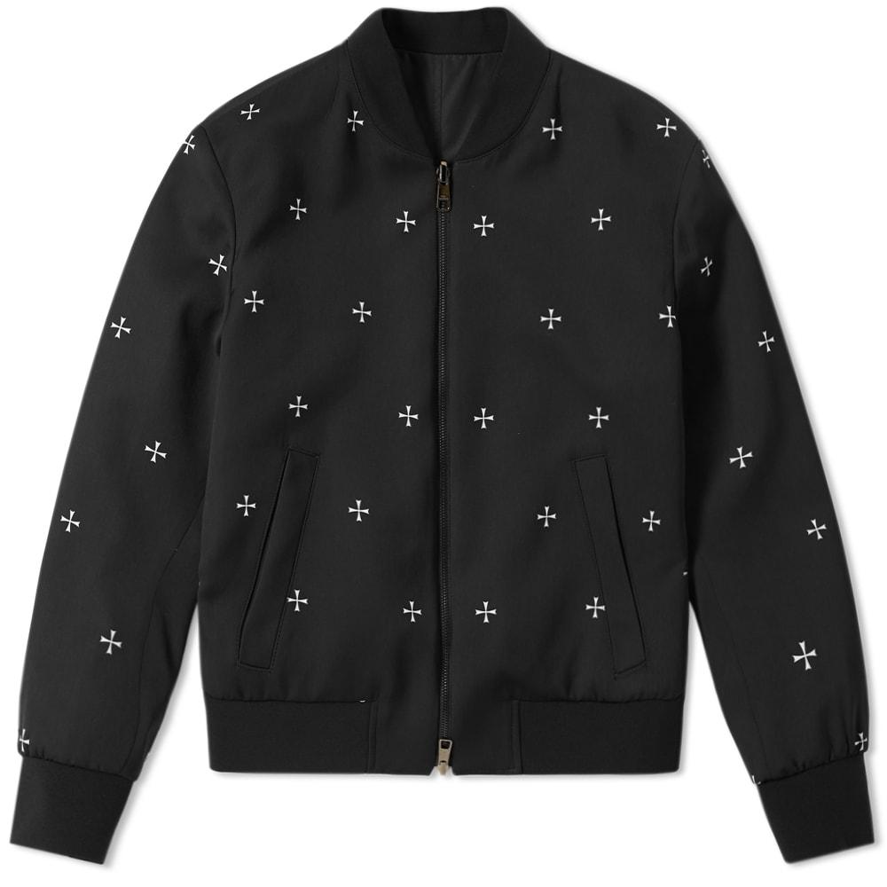 NEIL BARRETT Reversible Military Star Bomber Jacket, Black
