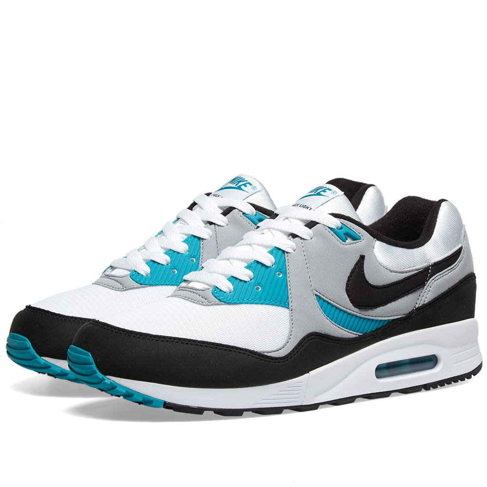 reputable site 841df e1a10 Nike Air Max Light White, Black, Teal   Grey   END.