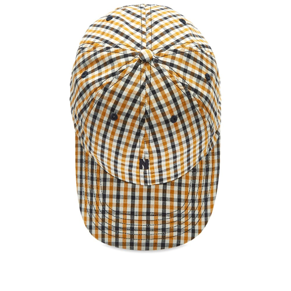 online store 890f3 da4c9 Norse Projects Gingham Sports N Logo Cap Sunwashed Yellow   END.