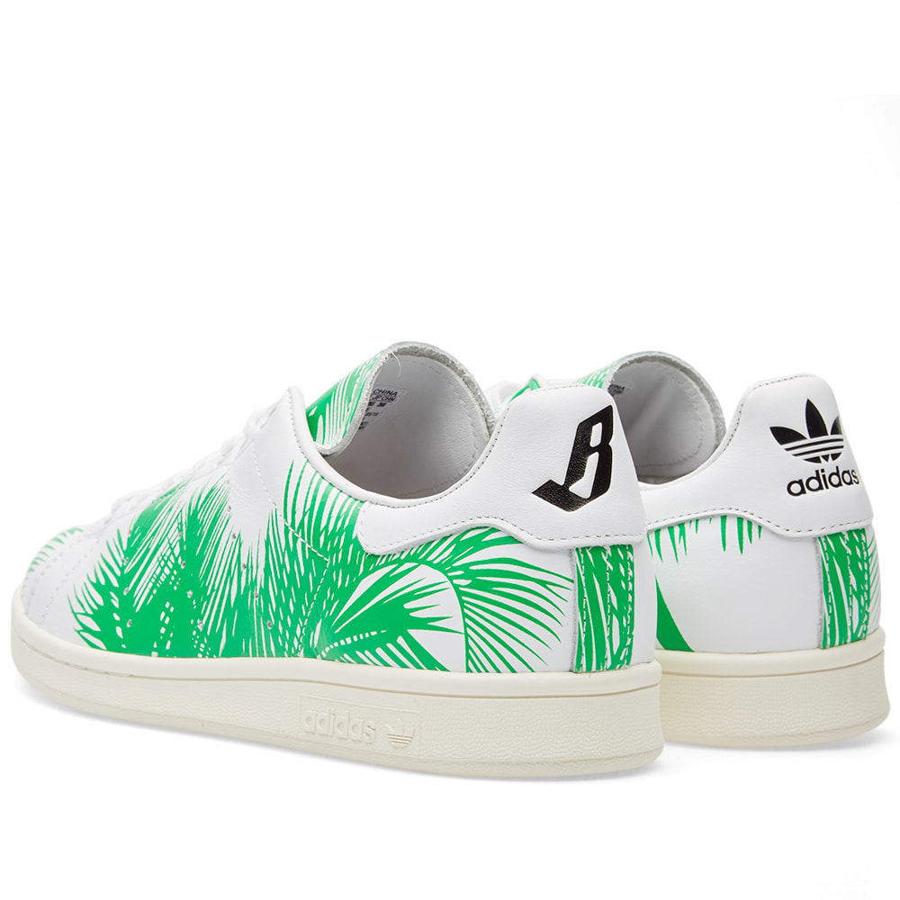 cbc0a7b73def0 Adidas x Pharrell Williams x BBC Palm Tree Stan Smith White   Core Black