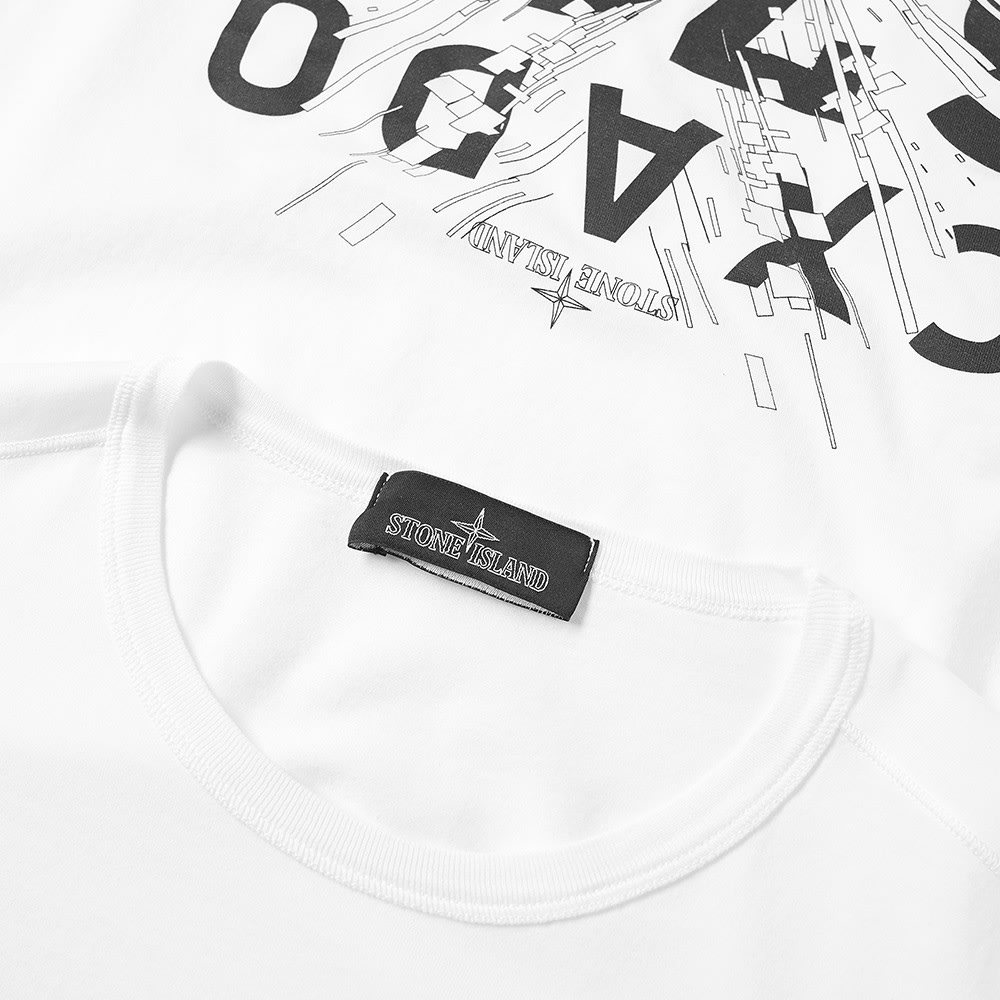 6bfc3af1 Stone Island Shadow Project Long Sleeve Garment Dyed Graphic Tee White |  END.