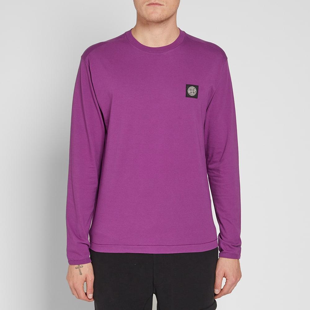 02210350 STONE ISLAND Long Sleeve Patch Logo Tee, Pink | ModeSens