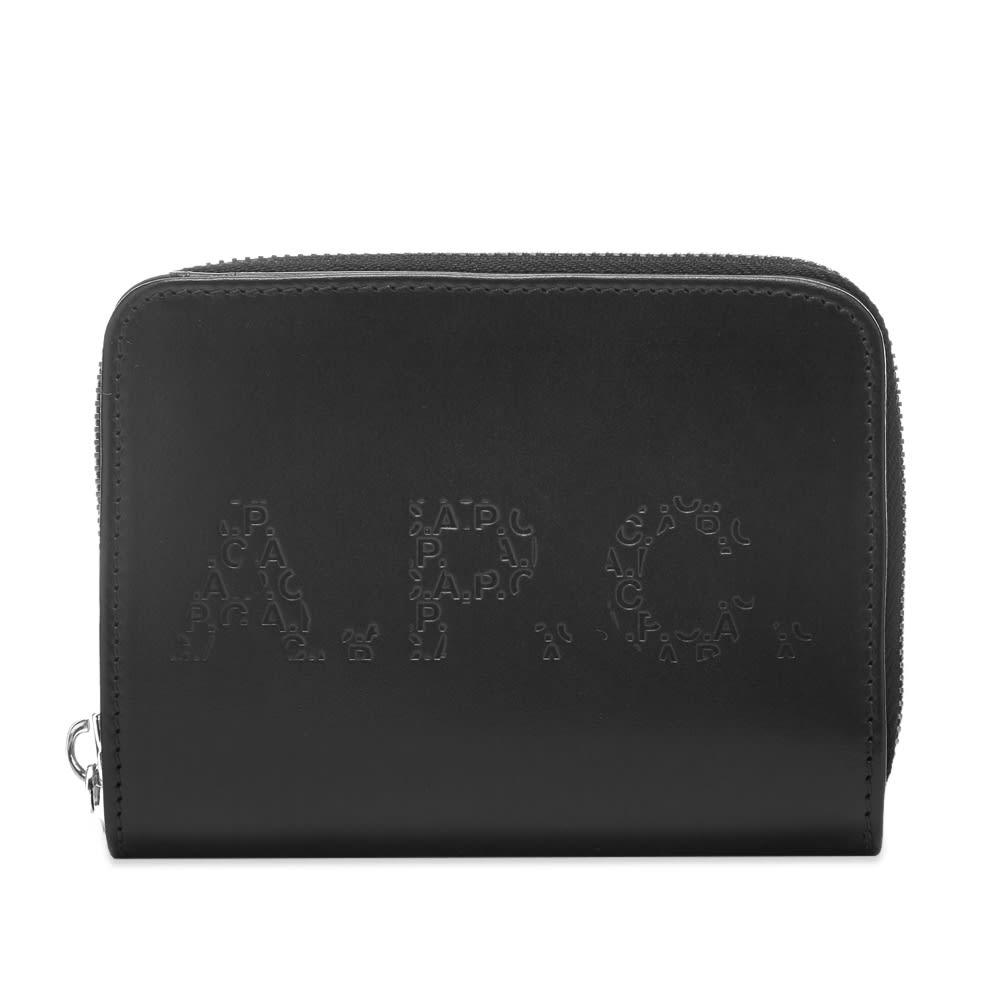 A.P.C. Emmanuel Embossed Logo Wallet