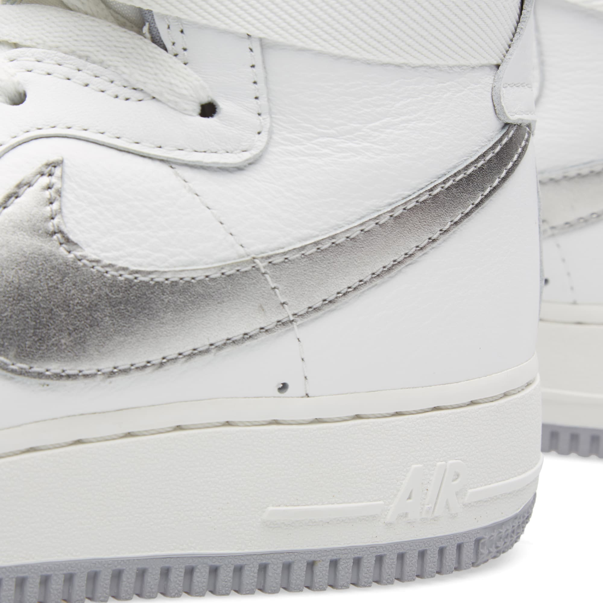 new product f2fcf 959d2 Nike Air Force 1 High Retro QS  Summit White  Summit White   Wolf Grey    END.