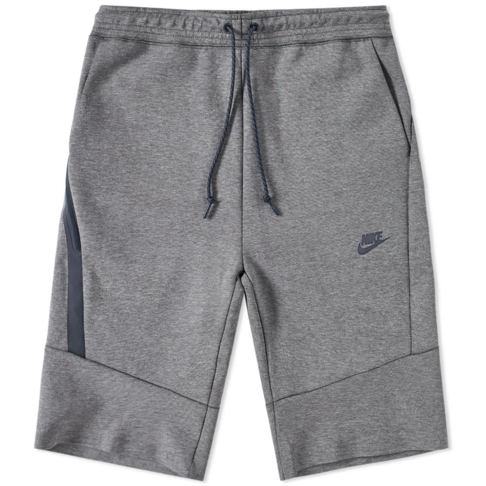 the best attitude 4642e 2295c Nike Tech Fleece Short 2.0 Carbon Heather   Obsidian   END.