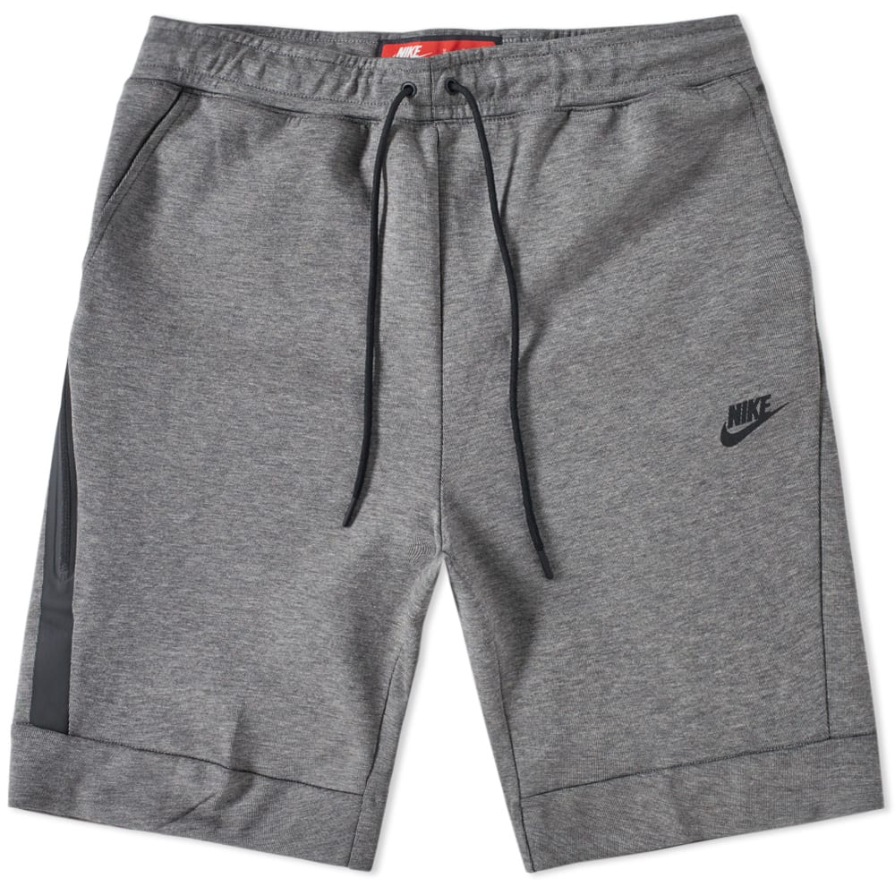 nike tech fleece short carbon heather black end. Black Bedroom Furniture Sets. Home Design Ideas