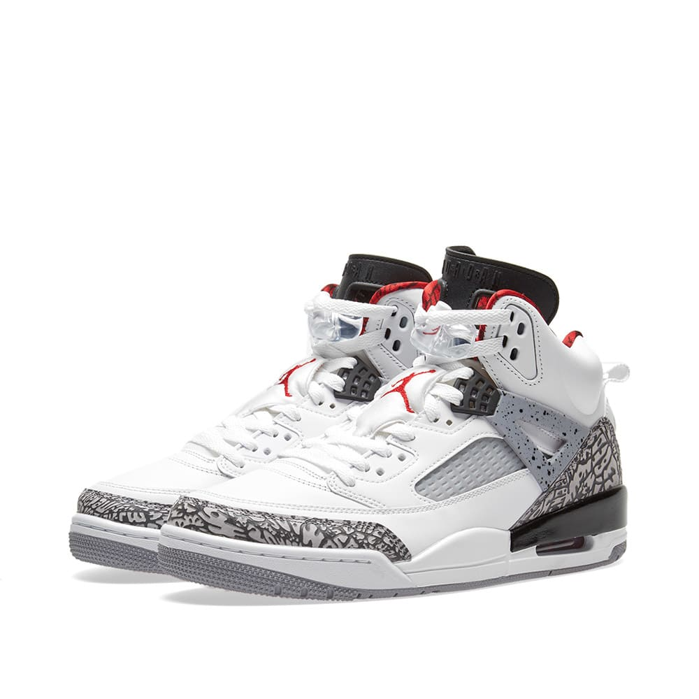 detailed look a4e7b 26b18 Nike Air Jordan Spizike GS White, Varsity Red   Grey   END.