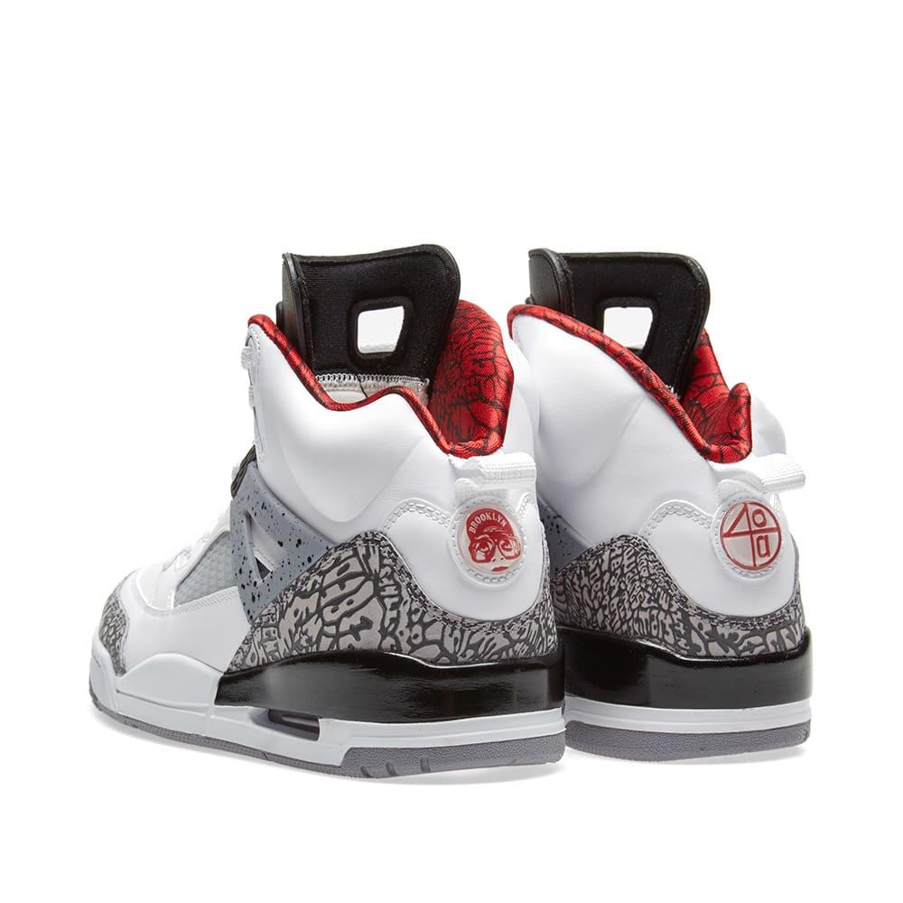 detailed look 9799a c1550 Nike Air Jordan Spizike GS White, Varsity Red   Grey   END.