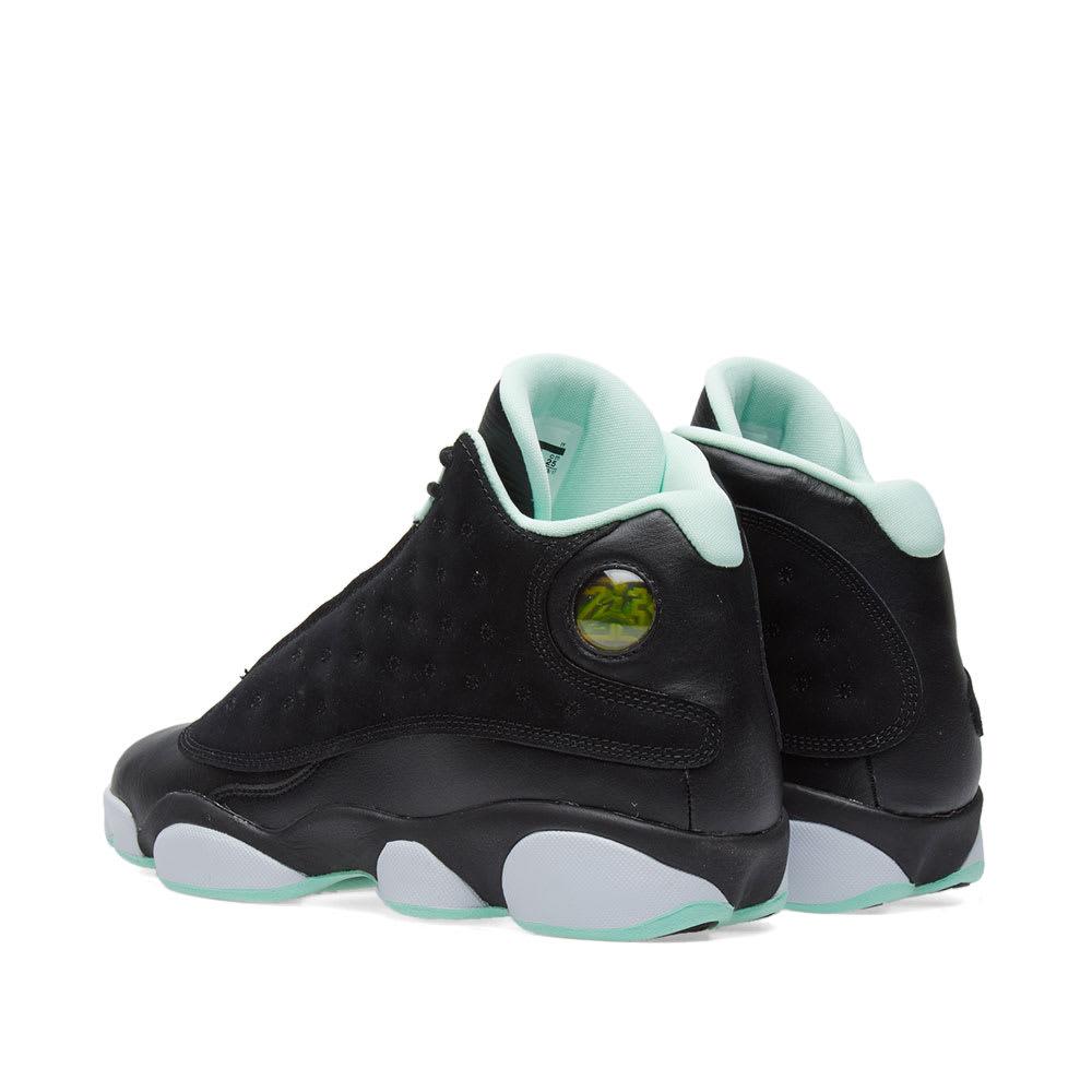 brand new d0485 b3794 Nike Girls  Air Jordan 13 Retro GS Black, Metallic Gold   Mint   END.