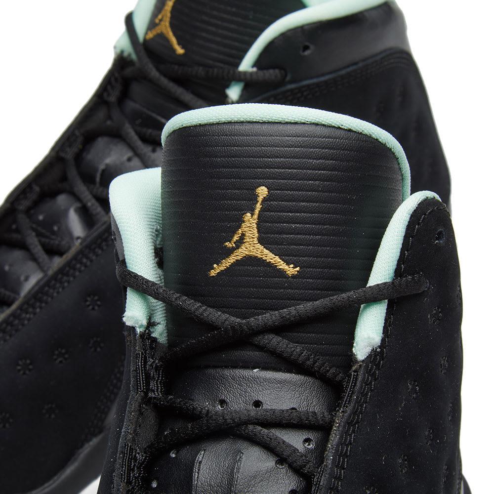 brand new 6c5c7 692e8 Nike Girls  Air Jordan 13 Retro GS Black, Metallic Gold   Mint   END.