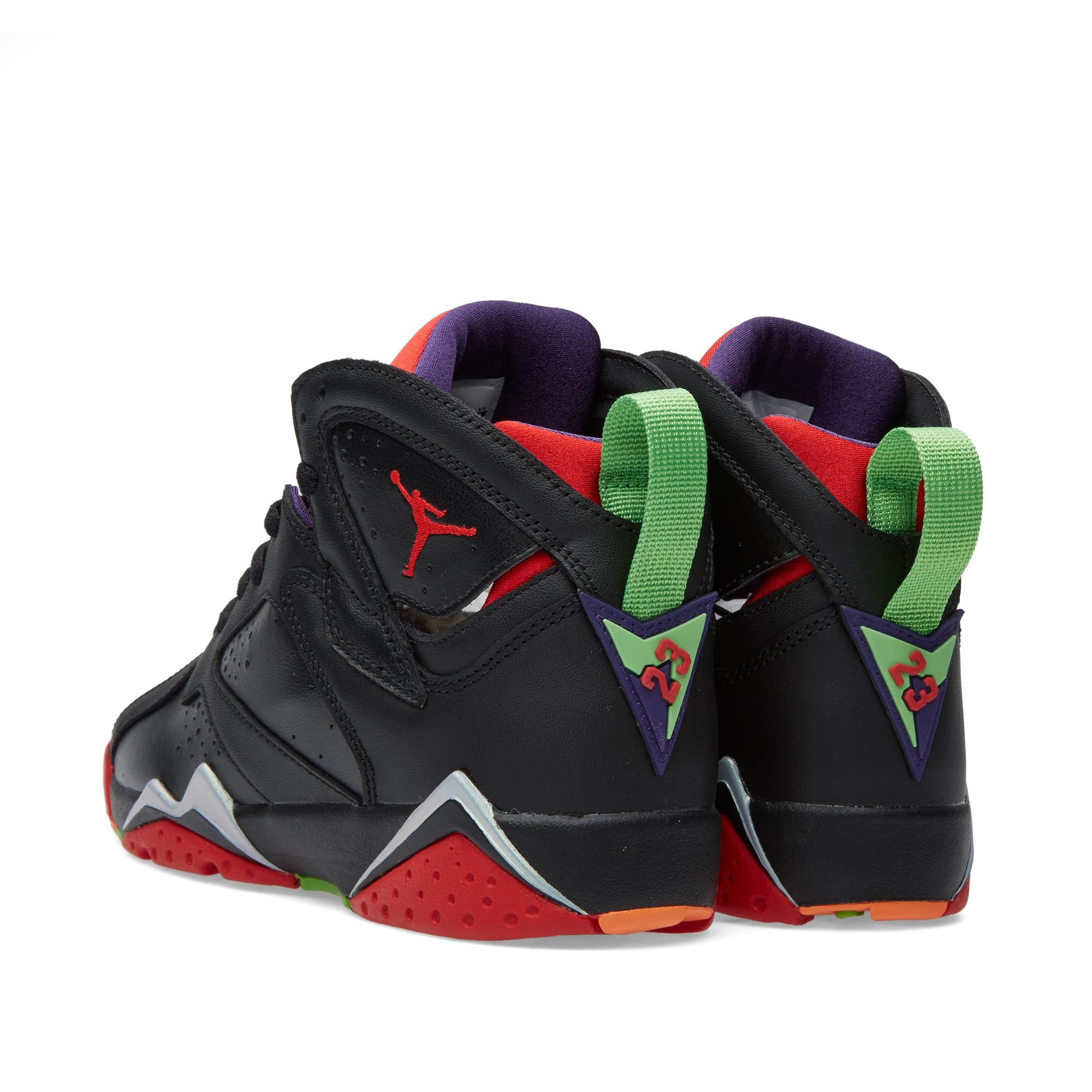 online retailer 5aebf bb5ad Nike Air Jordan VII Retro BG  Marvin The Martian  Black   University Red    END.