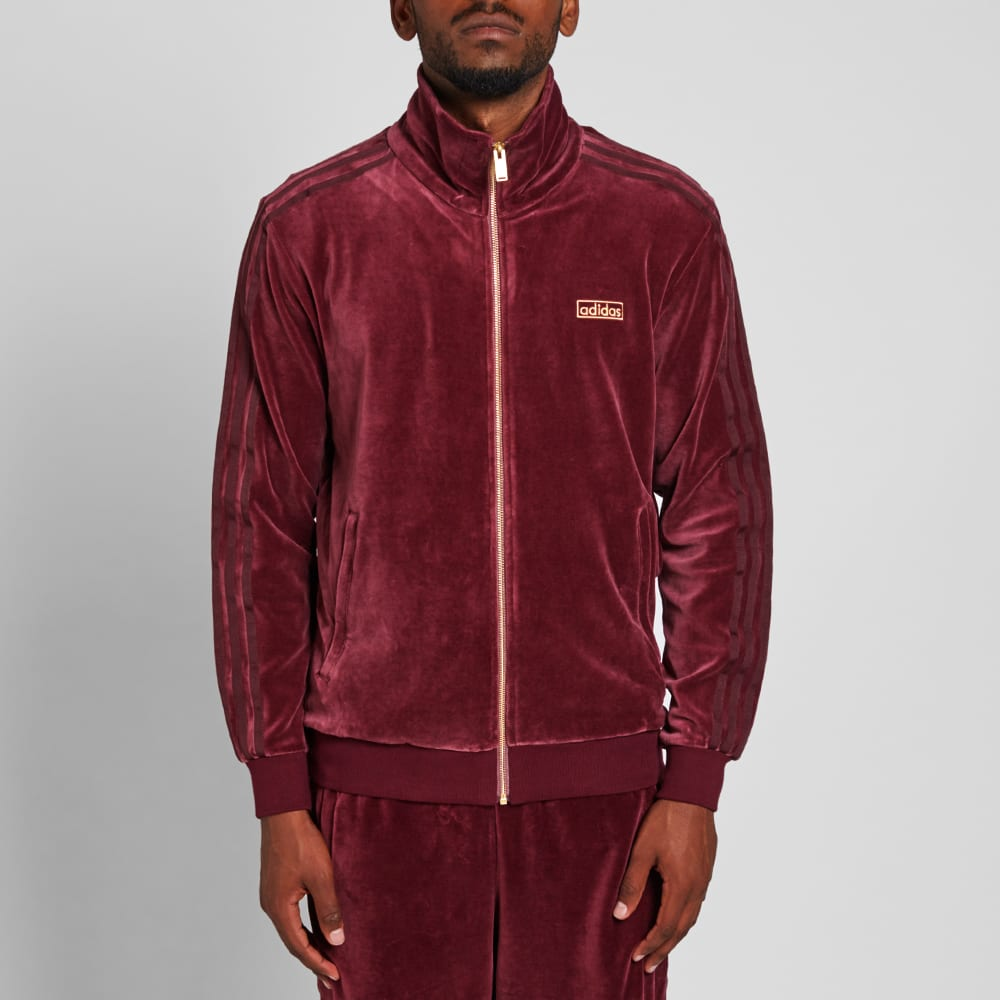 adidas velour beckenbauer track top maroon. Black Bedroom Furniture Sets. Home Design Ideas
