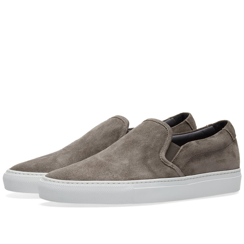 Common Projects Slip On Waxed Suede