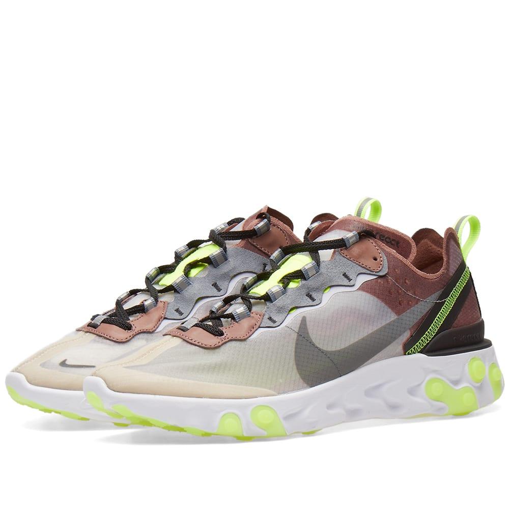 prezzo più economico nuovi prezzi più bassi fashion design Nike React Element 87 Desert Sand & Cool Grey | END.