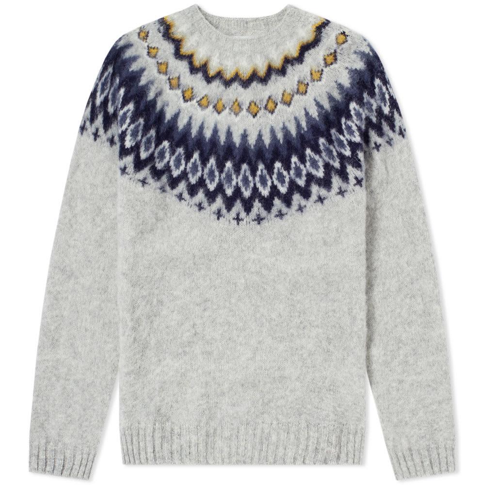 NORSE PROJECTS Birnir Fair Isle Brushed-Wool Sweater