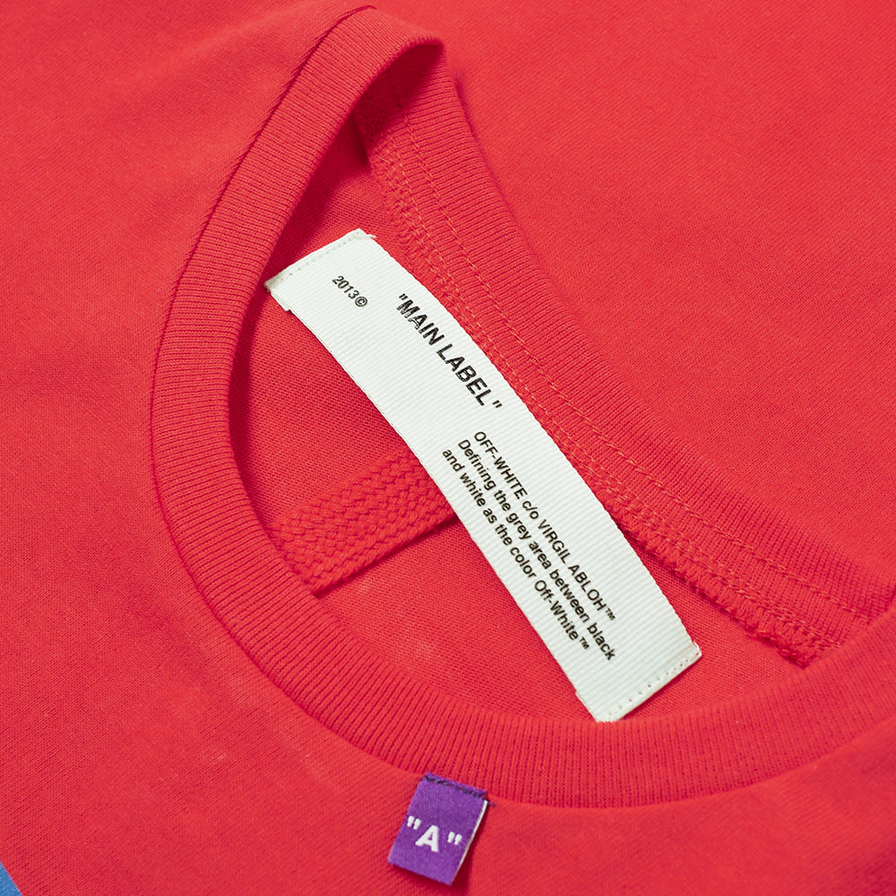ab5fc38e02 Off-White Long Sleeve Bernini Tee Red   Blue