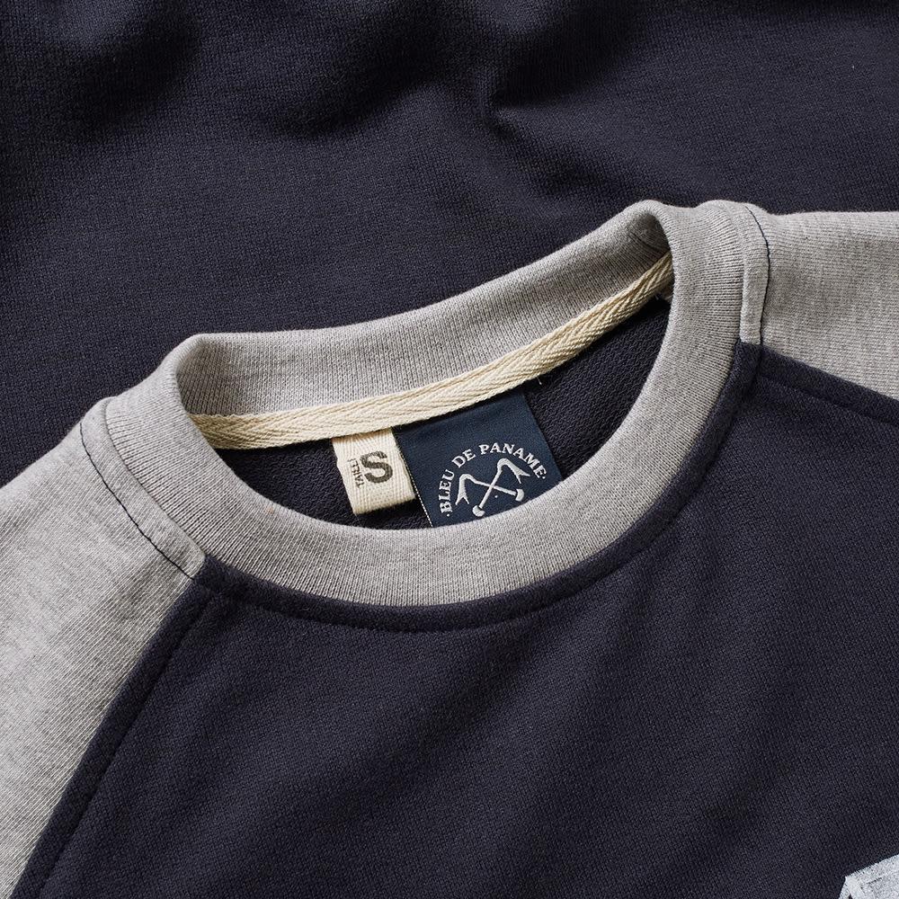 16 X 11 Sweat Towel: Bleu De Paname Raglan Logo Sweat (Blue Paname