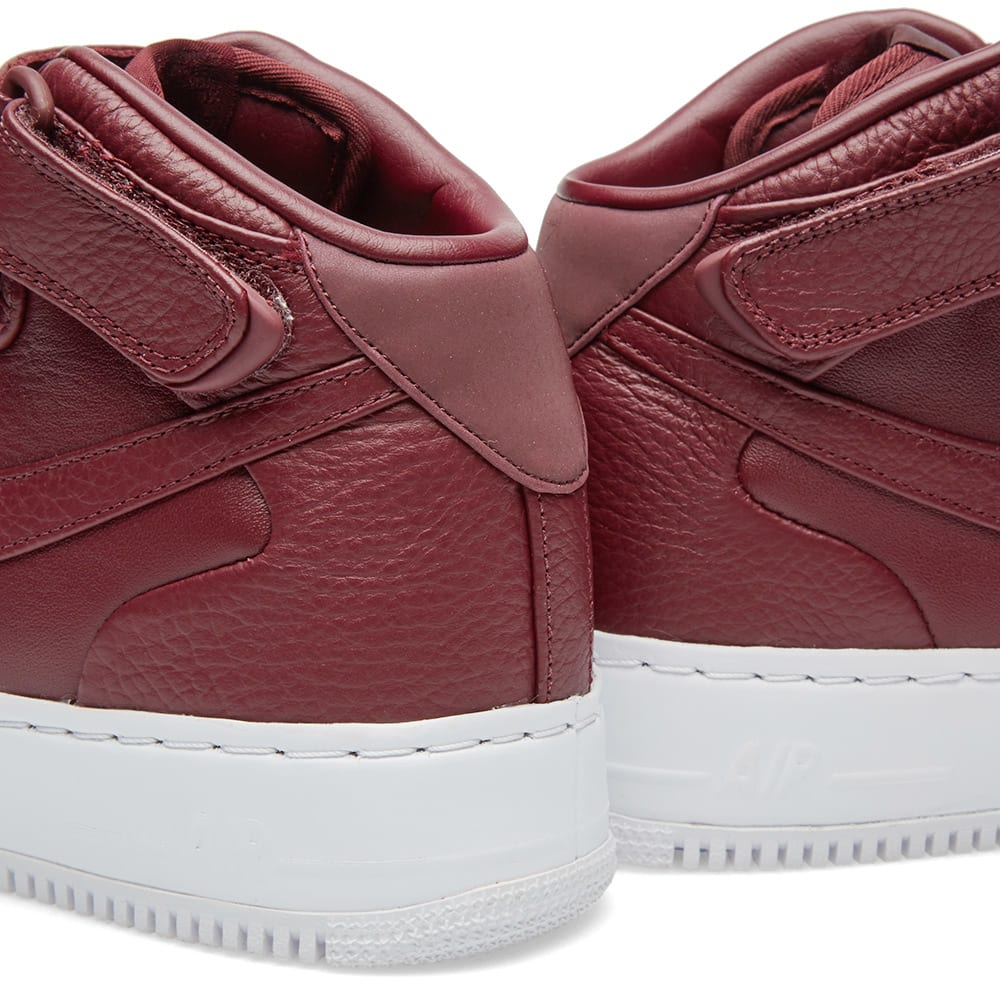 timeless design e2a92 8af5c NikeLab Air Force 1 Mid Night Maroon   White   END.