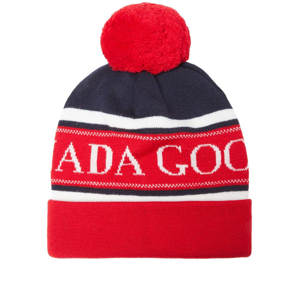 149cff489e9 CANADA GOOSE Merino Logo Pom Hat