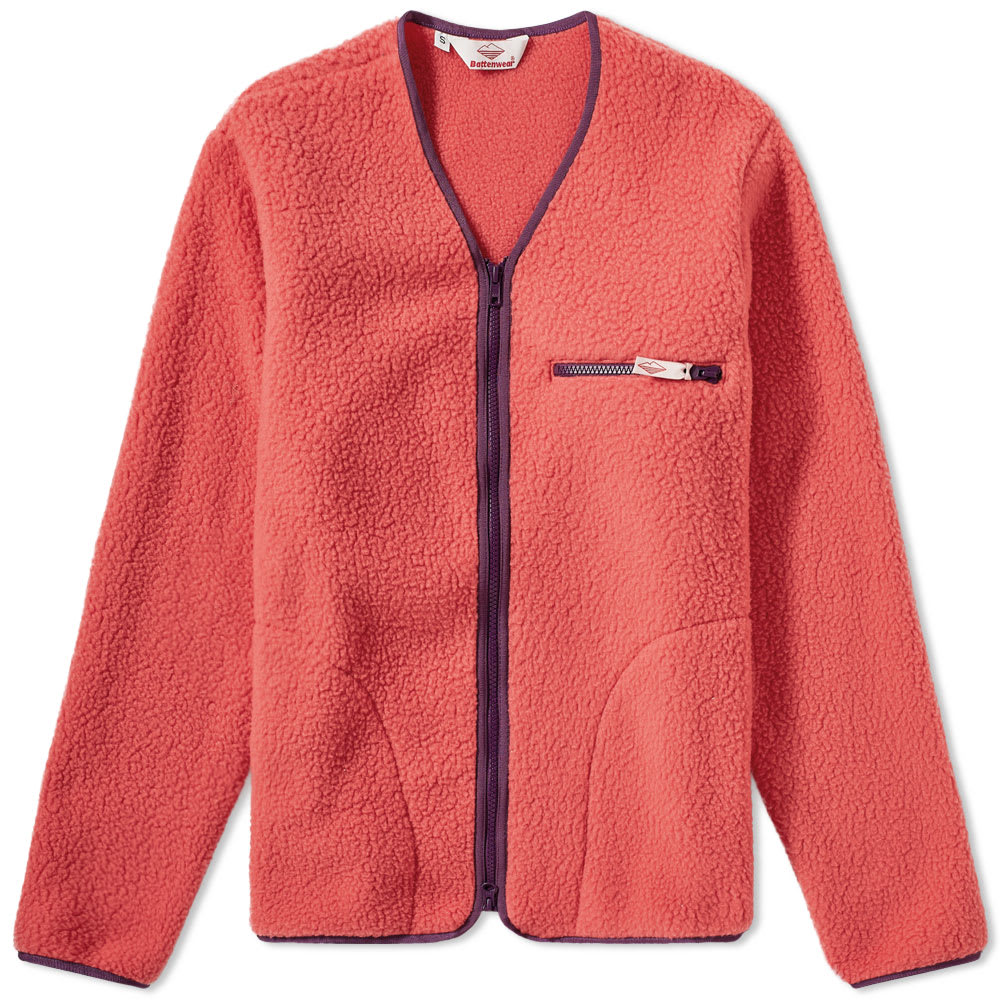 BATTENWEAR Battenwear Lodge Cardigan in Pink