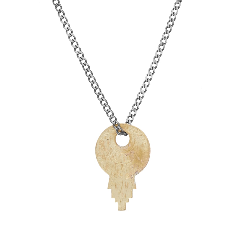 MIANSAI Wise Lock Brass Pendant Necklace in Gold