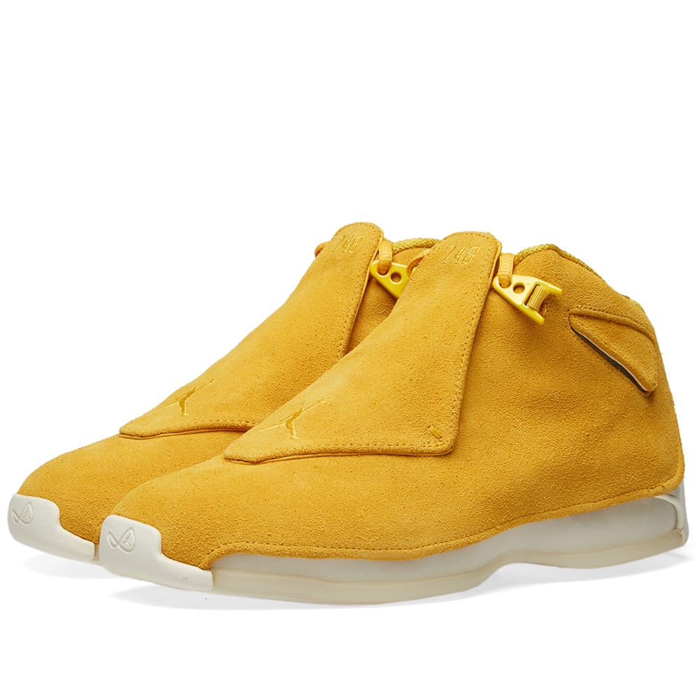 17c1b3b8c5e01f Air Jordan 18 Retro Yellow Ochre