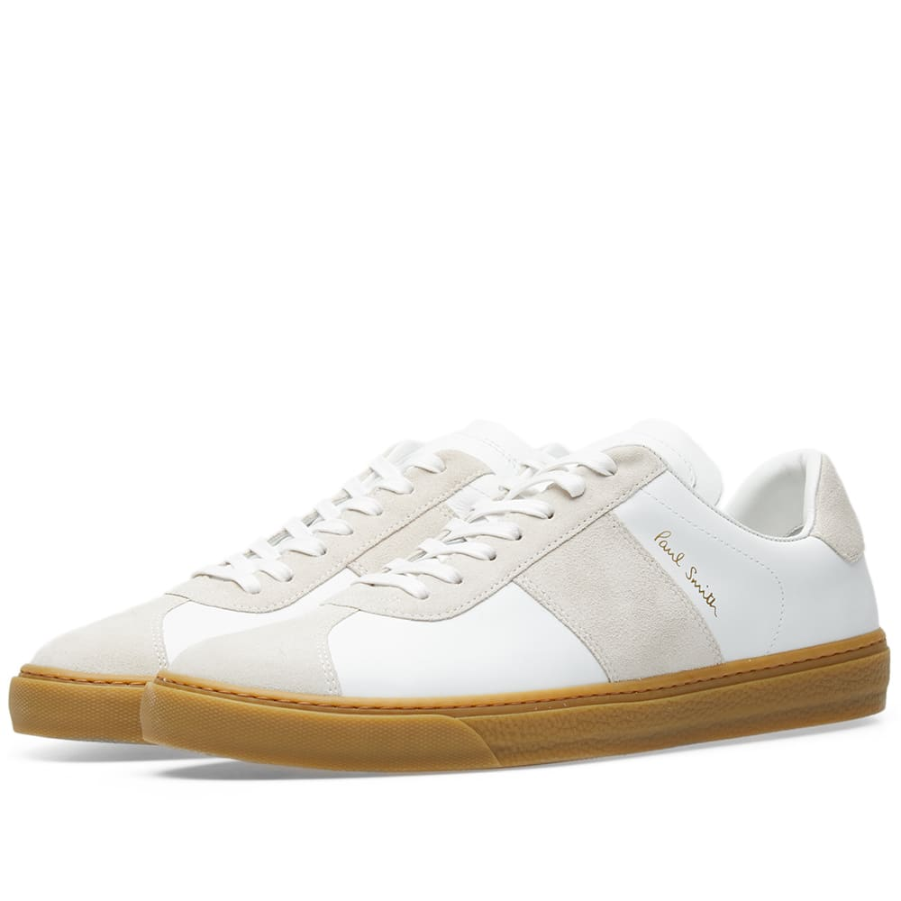 brand new hot new products pre order Paul Smith Levon Gum Sole Military Sneaker White   END.