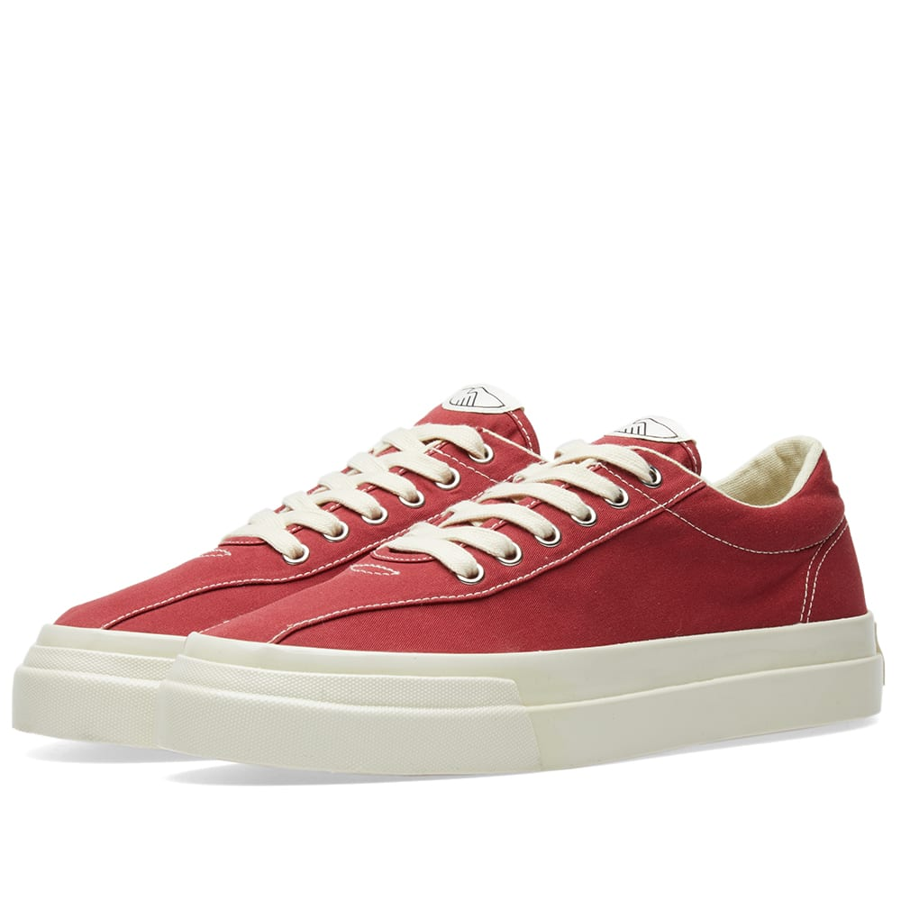 STEPNEY WORKERS CLUB Stepney Workers Club Dellow Canvas Sneaker in Red