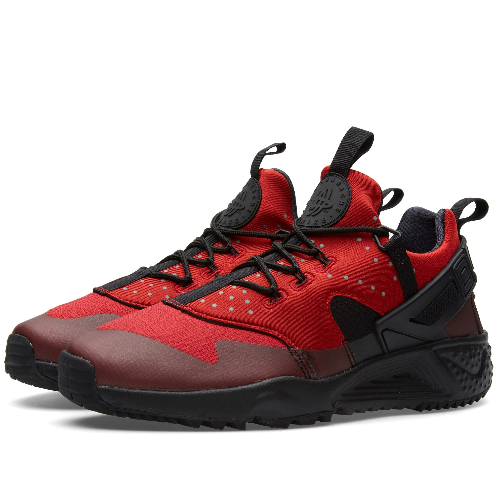 nike air huarache utility gym red black. Black Bedroom Furniture Sets. Home Design Ideas