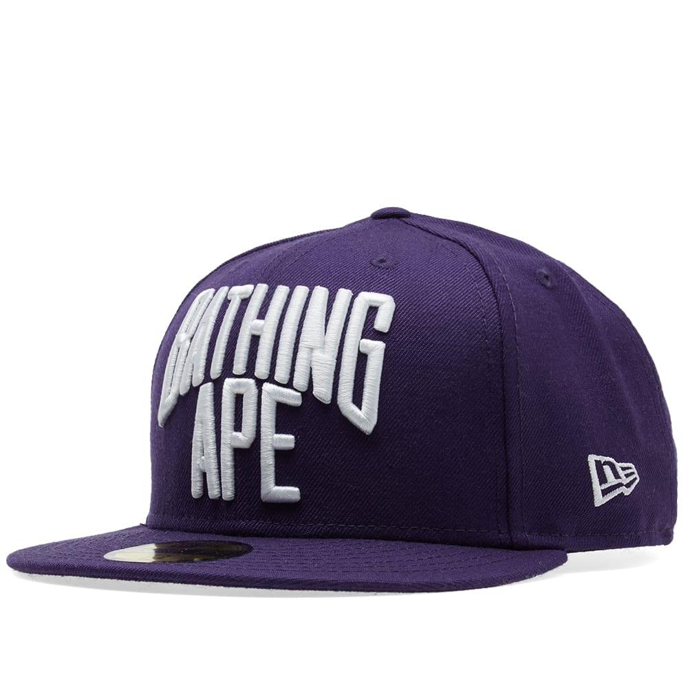 A Bathing Ape New Era Nyc Logo Cap In Purple  aee340ea92ef