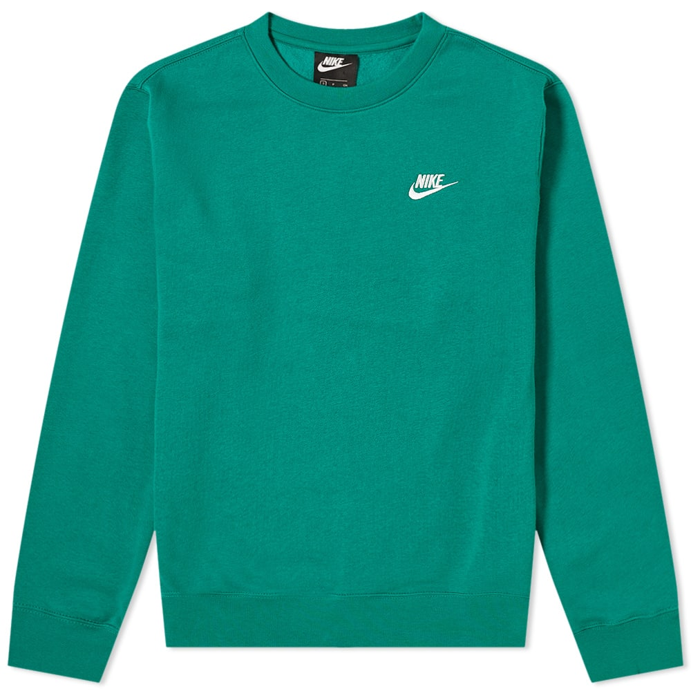Recuerdo Flotar lb  Nike Club Crew Sweat Mystic Green & White | END.
