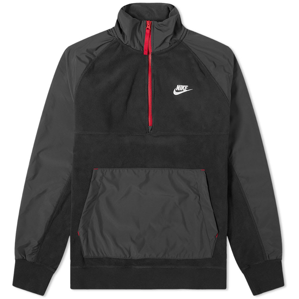Inseguro antártico Entretenimiento  Nike Polar Fleece Half Zip Sweat In Black | ModeSens