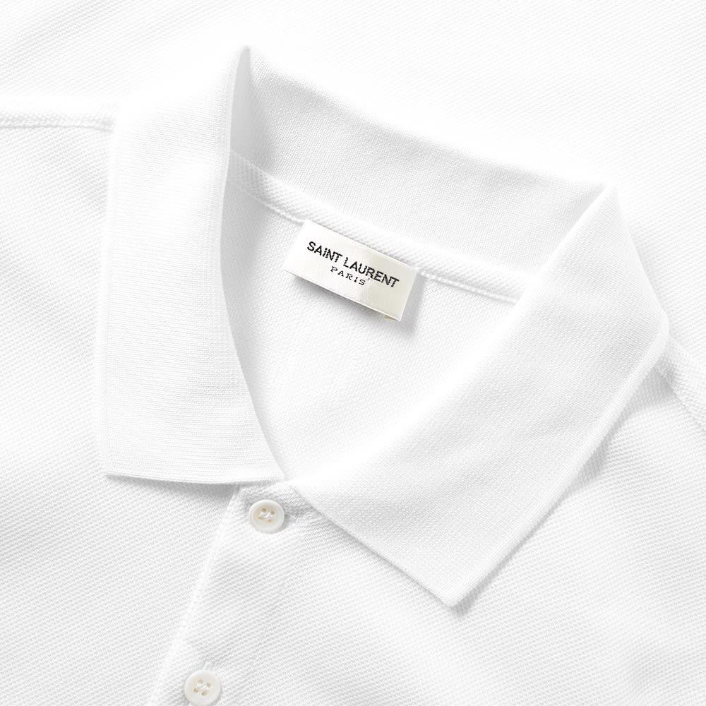 a4041afe8be5b5 Saint Laurent YSL Logo Polo White