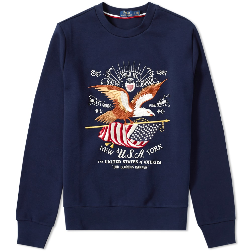 8ae7bcba62289 Polo Ralph Lauren Eagle Embroidered Sweat Navy