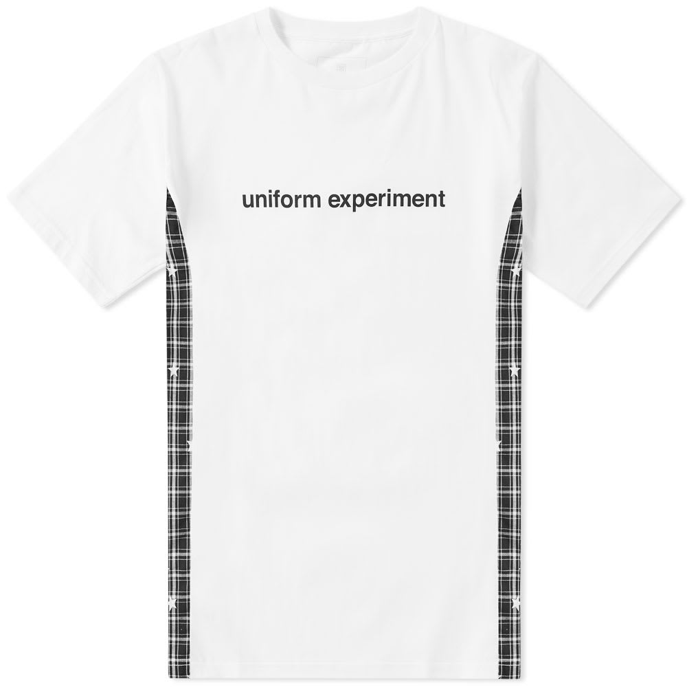 UNIFORM EXPERIMENT Uniform Experiment Star Side Panel Tee in White