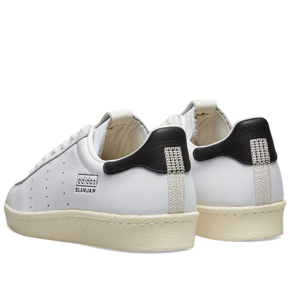 new concept a33d9 cfae2 Adidas Consortium x Slam Jam Superstar 80s White   END.